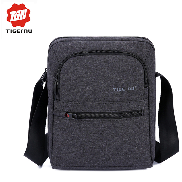 2017 Tigernu Brand High Quality Men 's Messager Bag Mini Business Shoulder Bags  Casual Travel Bag Women Cross body Bag