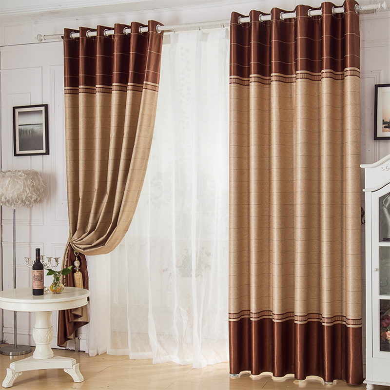 Construction Time Lined Curtains: Modern Window Curtain For Living Room Drawing Bedroom