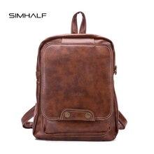 Simhalf винтажные женские кожаные рюкзаки Дамская мода рюкзаки для подростков девочек школьные сумки PU кожаные дорожные сумки Mochilas