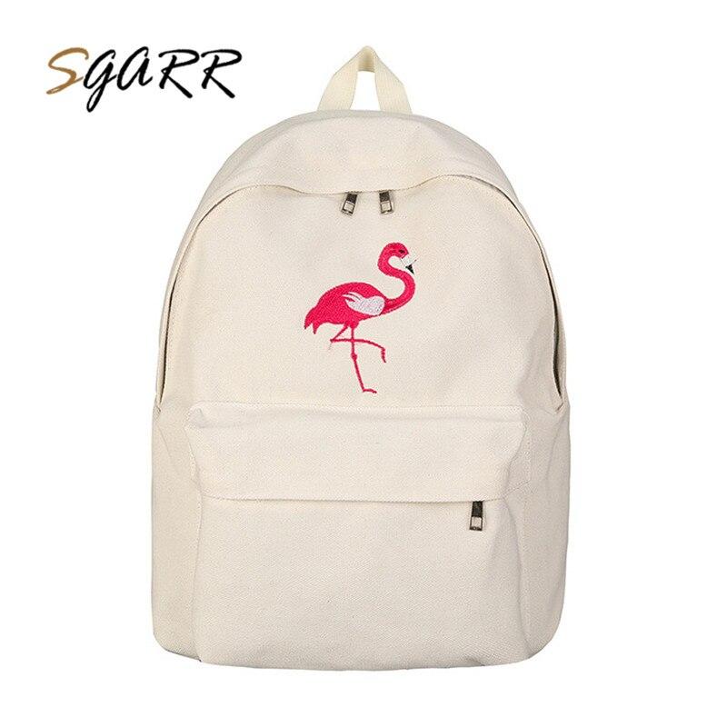 SGARR Brand  Female Backpack Canvas Black White Women's Light Travel Bags School Bag Teenage Girls Backpacks For Adolescent
