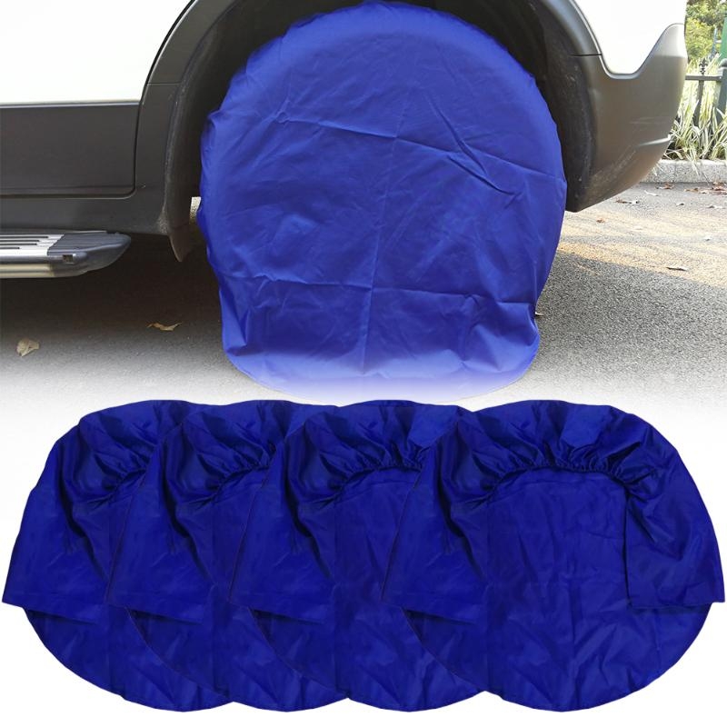 Image 4 - 4pcs 32inch Wheel Tire Covers Case Car Tires Storage Bag Vehicle Wheel Protector for RV Truck Car Camper Trailer car styling-in Tire Accessories from Automobiles & Motorcycles