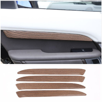 Sands Wood Grain style ABS Interior Door Decoration Protector Plate Cover Trim For Land Rover Discovery 5 LR5 2017 Car-Styling