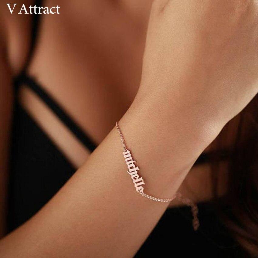 60ae86630ace Nombre collar de oro de acero inoxidable de Color personalizado collares  para regalo Colgante placa gargantilla