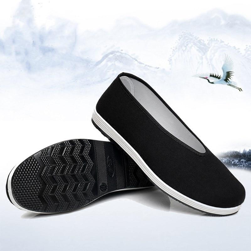 Bruce lee men wing chun sapatos retro preto chinês kung fu arte marcial treino sapato para tai chi wushu esportes treinamento de fitness