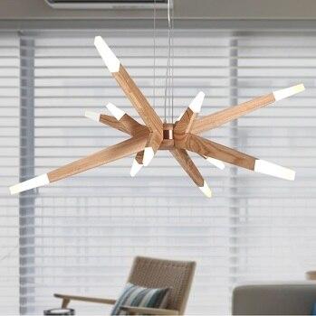 Suspension Design USA 12 lumières en bois et acrylique, navette spatiale|designer pendant light|pendant lights|pendant lights design -