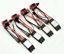 4X  2212 920KV CW CCW  Brushless Motor + 4 X 30A Simonk ESC with 3.5mm Connector for F330 F450 F550 Multicopter
