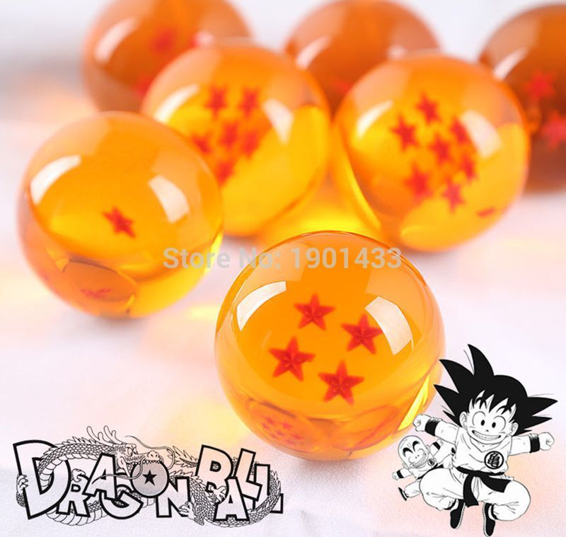 Dragon Ball Crystal Balls 4.5CM 7 Stars Set of 7 PCS Balls Complete Set New In Box Classic Action Figures Toys brand new 3 5cm dragon ball z new in box 7 stars crystal balls set of 7 pcs complete set for children new year christmas gift