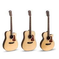 Fingerstyle spruce solid wood acoustic guitar matte 41inch folk guitar acoustic guitar 41inch Spruce flattop guitar strum string