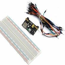 MB102 макетная плата модуль питания 3,3 В 5 в без пайки макетная плата 830 точек для Arduino макетная плата соединительный кабель Diy Электронный