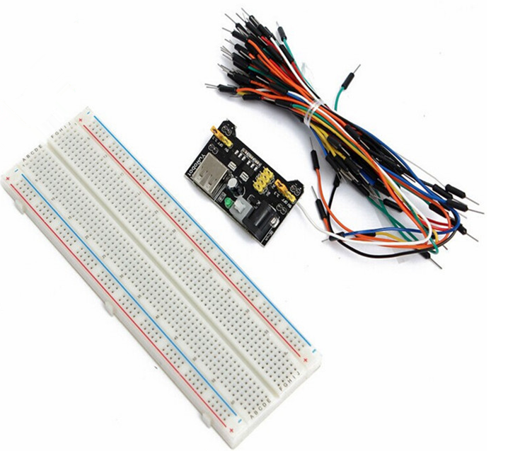 Breadboard Protoboard 830 400 Solderless 3.3//5V Power Supply Jumper Cable Wires