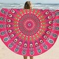 Retro Vestido de Abrigo diseño Mandala Chal Toalla de Playa Ronda Irradian Patrón Estera de Tabla Paño de Algodón 150 cm