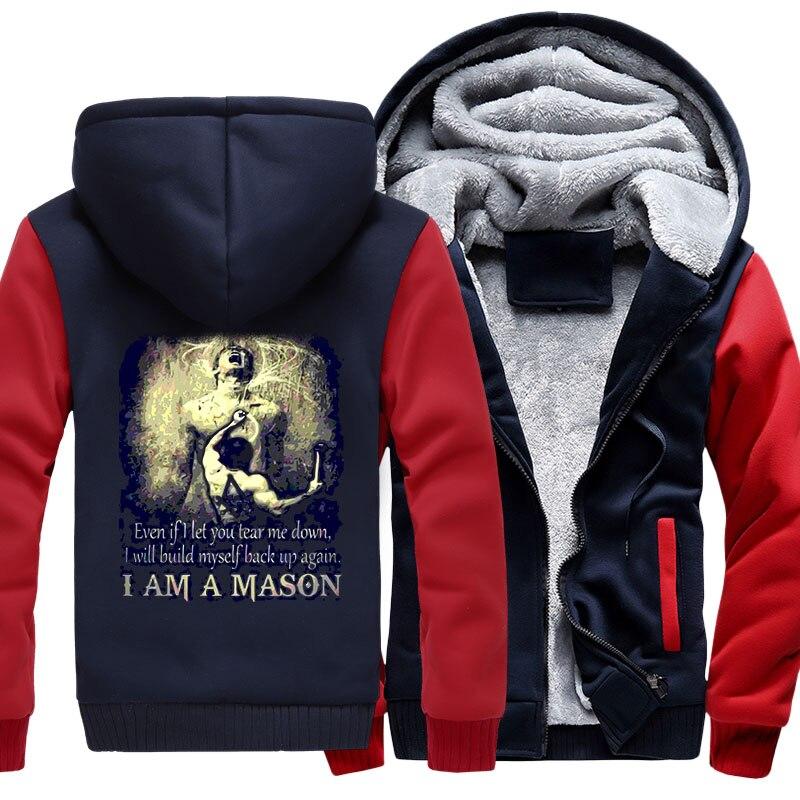 I am a Mason Hoodies Men's Jacket Fleece Thick Zipper Jacket Sweatshirt Coat VIP Customer