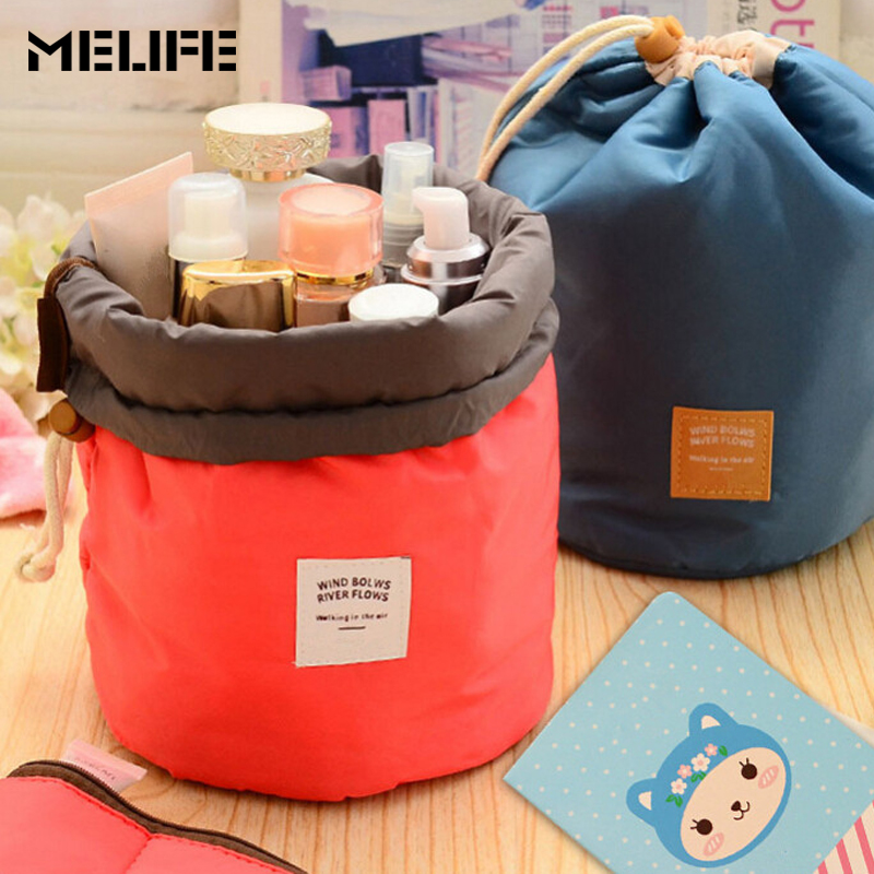 MELIFE Travel Organizer Bag Fashion Cosmetic Bags WIND BLOWS RIVER FLOWS Storage bag Waterproof Women Makeup bags Beauty Product fair blows the wind