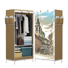 Włóknina szafy szafka do przechowywania Panorama składana tkanina szafa kreskówka 3D szafa mała szafa szafa
