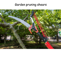 5.5MFruit Tree Pruning Shears Handheld Telescopic Pruning Shears Gardening Scissors Sharp Shears gift# Goggle and glove GHJ001