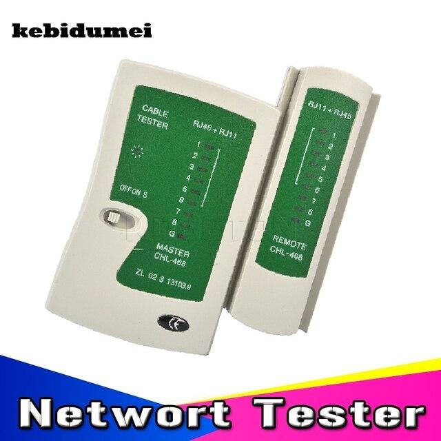 Kebidumei Ağ Kablosu Tester RJ45 RJ11Cat5 Cat6 LAN Kablo Test Cihazı Ağ Tel Telefon Hattı Dedektör Tracker Aracı kiti