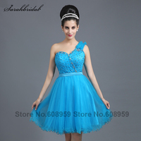 Hot Sale In Stock Sexy White Short Prom Dresses 2014 With Beaded Sash Mini Length Ball