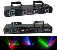 4 объектива RGYP Цвет этапа лазерный свет для диско DJ для вечеринки и ночного клуба паб КТВ профессиональный шоу освещения DMX лазерные лучи про