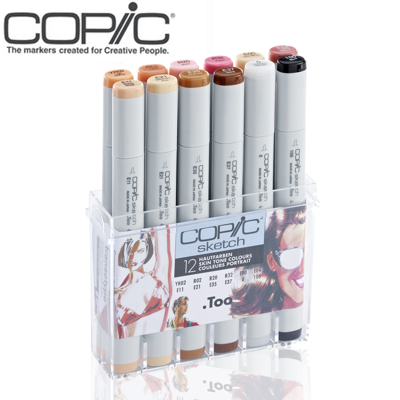 Japans original copic two generation professionals 12 colors skin tone colors art Marker pen set ciao12pcs sketch markerJapans original copic two generation professionals 12 colors skin tone colors art Marker pen set ciao12pcs sketch marker