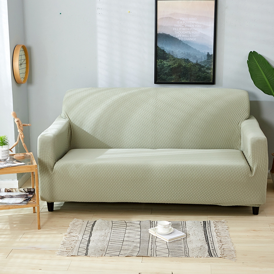 Us 29 52 59 Off Light Green Soft Knitted Waterproof Sofa Covers Nordic Christmas Couch Slipcover Set 1 2 3 4 Seat Size Living Room In