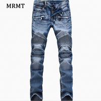 2018 Explosion Of European And American Foreign Trade Jeans Men S Light Colored Little Lamb Pants