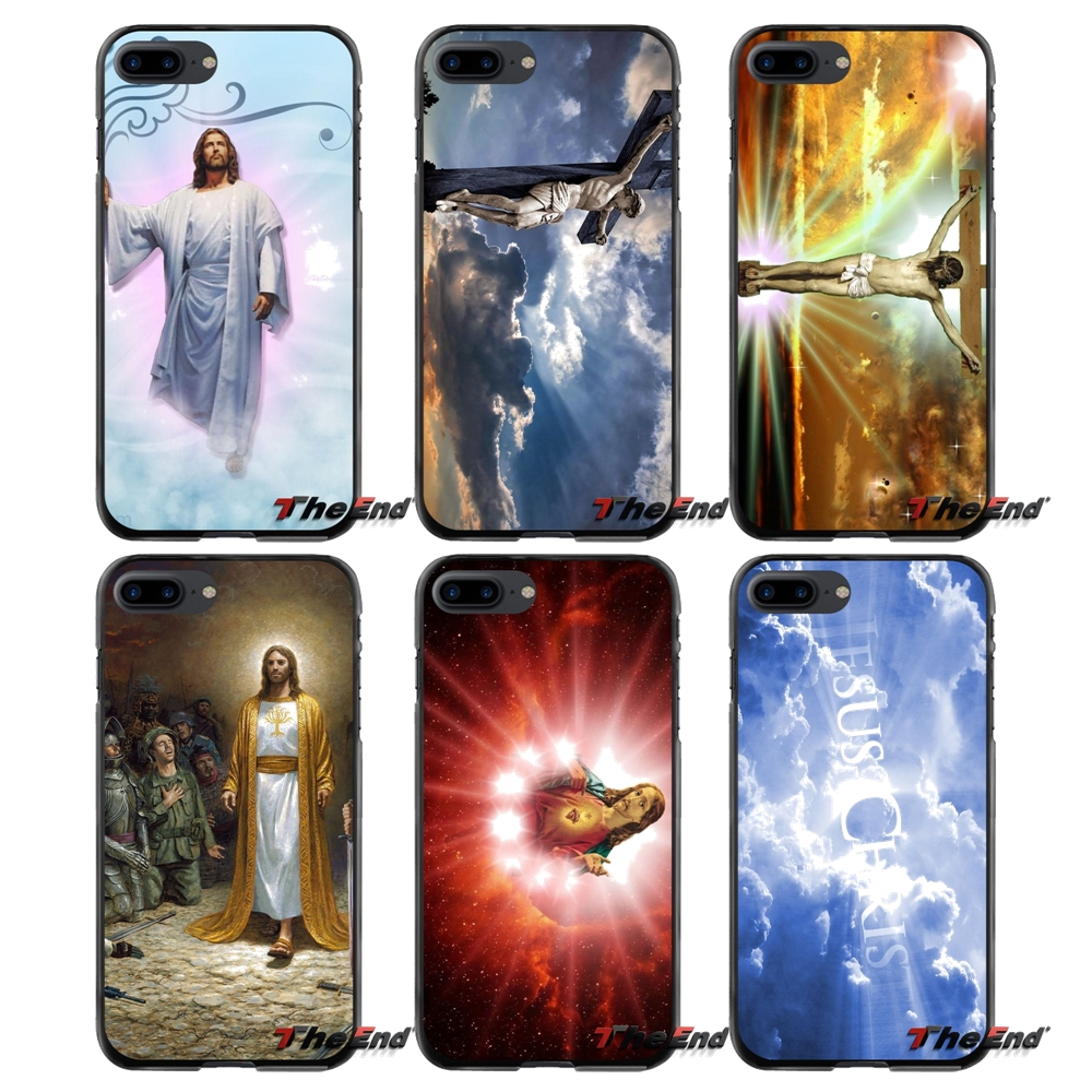 Jesus Accessories Phone Cases Covers For Apple iPhone 4 4S 5 5S 5C SE 6 6S 7 8 Plus X iPod Touch 4 5 6