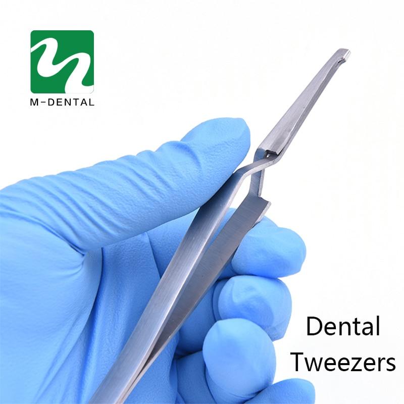 Dentaire Support Titulaire Collage Orthodontique Dentelé Dentisterie Instruments Brucelles En Acier Inoxydable Pince Pour Les Soins Des Dents