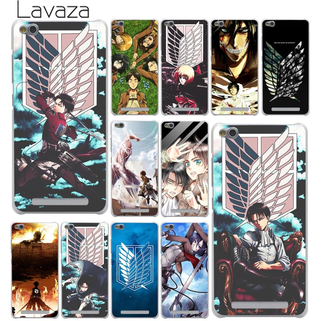 Lavaza Attack on Titan Mikasa Hard Case for Xiaomi Mi 8 SE A1 6 5X MiA1 MIX 2S Redmi S2 Note 4 4X 4A 6 Pro 5 Plus 5A Prime Mi8