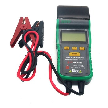 Car Battery Tester 12V Car Storage Battery Tester Analyzer with Thermal Printer Battery Test Auto Diagnostic Tools 12v portable car battery charging tester battery life percent analyzer for car truck boat battery system test