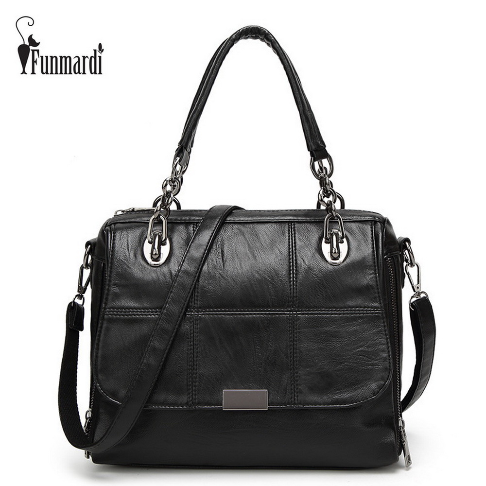 FUNMARDI Famous Brand Popular Ladies Handbag High Quality PU Leather Women's Shoulder Bag Casual Leather Women Bags WLHB1505