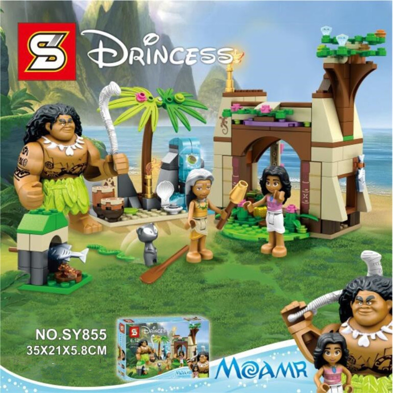 SY855 Princess boneca moana Island Adventure Building Blocks Classic for Kids Model Toys Vaiana Moana Compatible