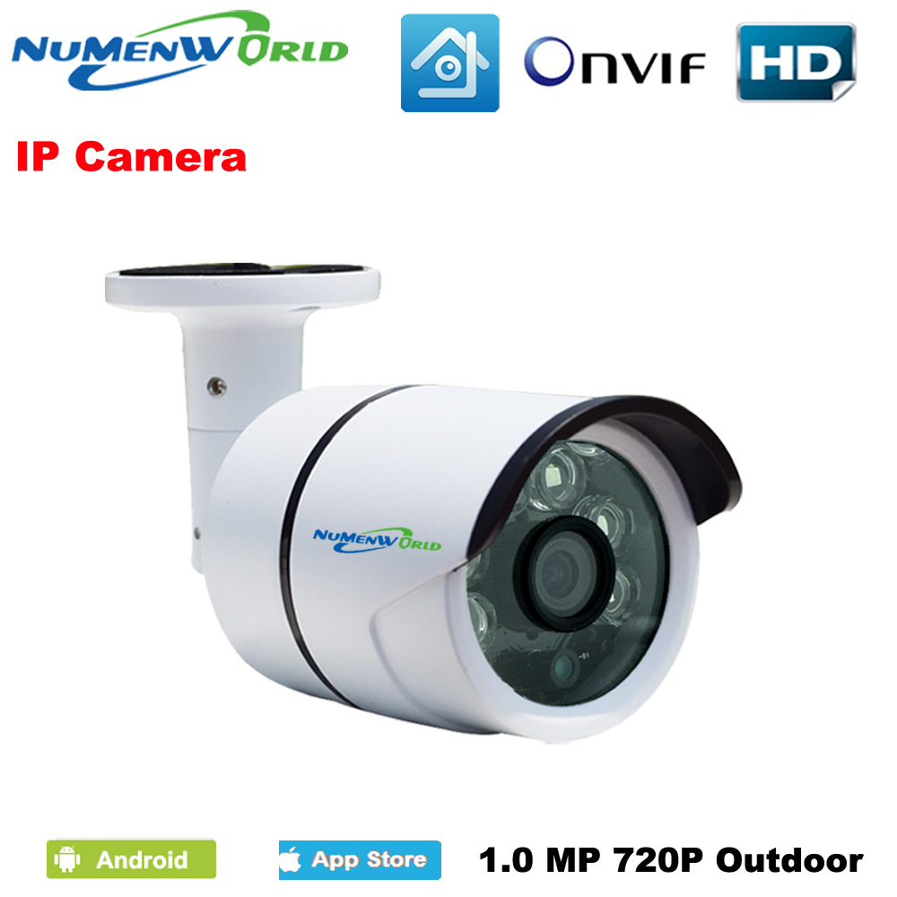 Waterproof IR-bullet IP Camera ONVIF Outdoor IP cam 720P Security Home Digital cam night surveillance CCTV camera P2P H.264 free shipping wholesale h 264 home security ir outdoor p2p cloud bullet ip camera 1 0mp hd 720p