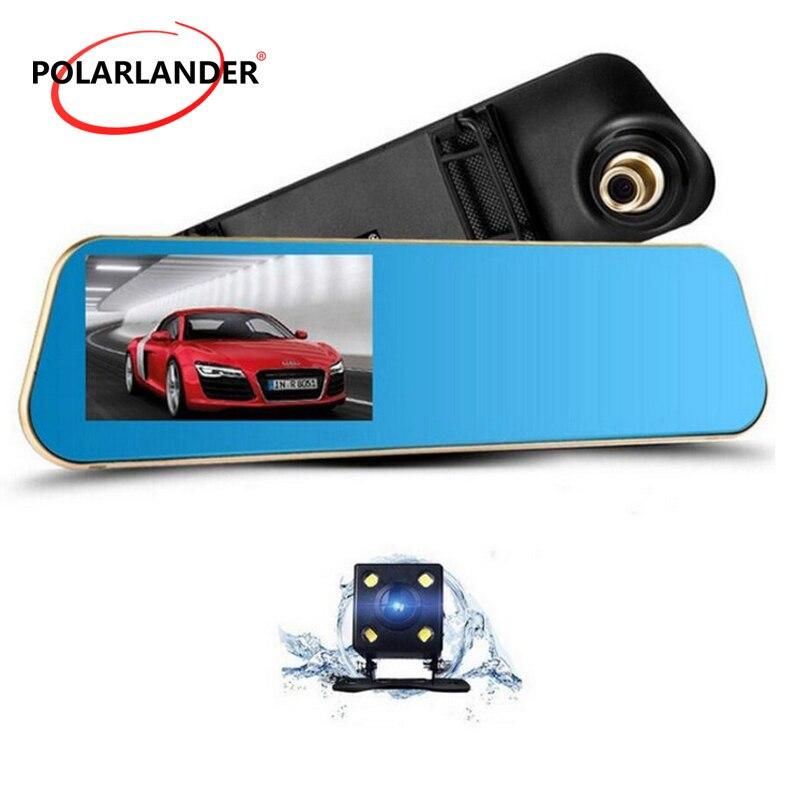1080P Full HD Dual Lens 4.3Inch Digital Video Recorder Camera Auto Rearview Mirror Camcorder Registratory Car Dvr