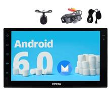 Android 6.0 7 inch Double 2 din Car Stereo 1080p GPS Navigation Autoradio Bluetooth Front&Reverse Camera Headunit Wifi USB/SD