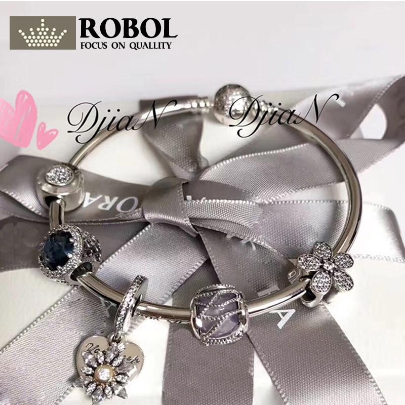 цена на Original 925 Silver Charm Series Bead High quality fashion women charm Lady Jewelry Gift Fashion Pandol 1:1 With Logo Bracelet