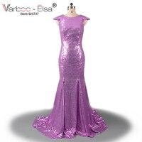 new arrival prom dresses 2018 sparkle dress gorgeous long mermaid prom dresses purple Sequin party long dress robe de soiree