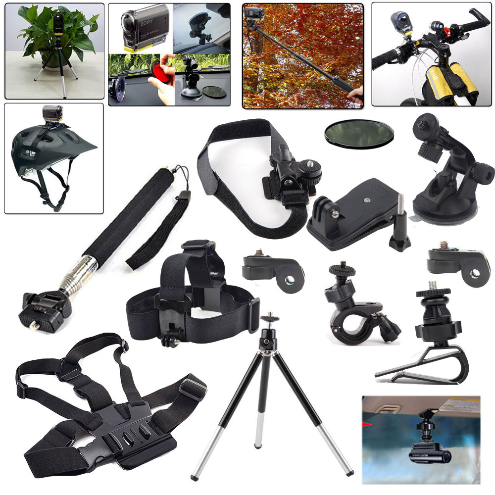 For Ion Air Outdoor Sports Accessories Kit Set for Sony Action Cam AS15 AS20 AS30V AS100V AS AZ1 Mini AS200V FDR-X1000V/W 4K Cam