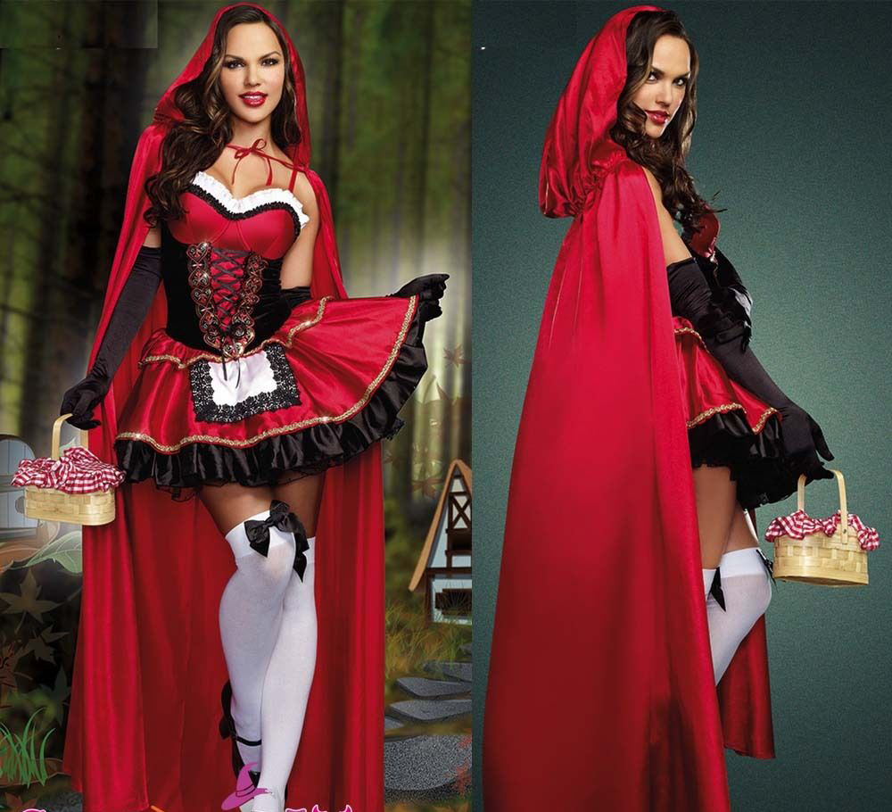 Little Red Riding Capot Oktoberfest Halloween Fancy Dress Conte de Fées Costume Femmes Cadeau