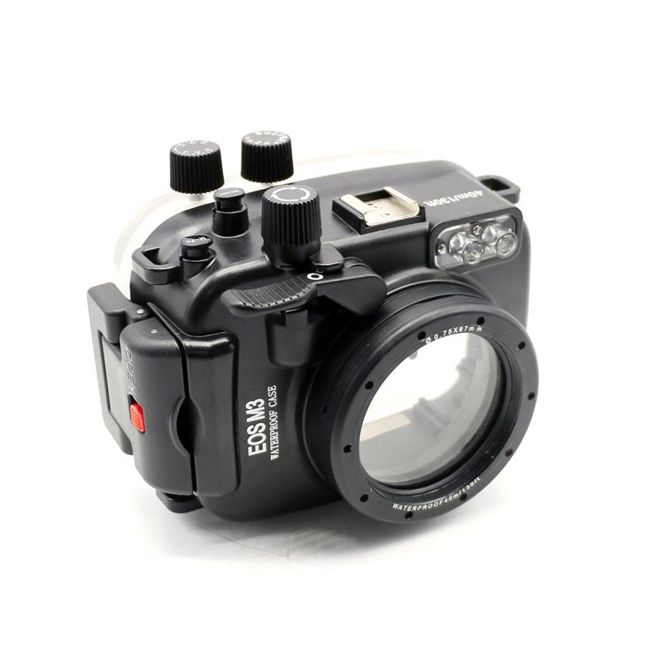 Meikon 40m/130ft waterproof case for Canon EOS M3 (22mm Port) Underwater Camera Housing сумка canon eh23 cj wh for eos m white