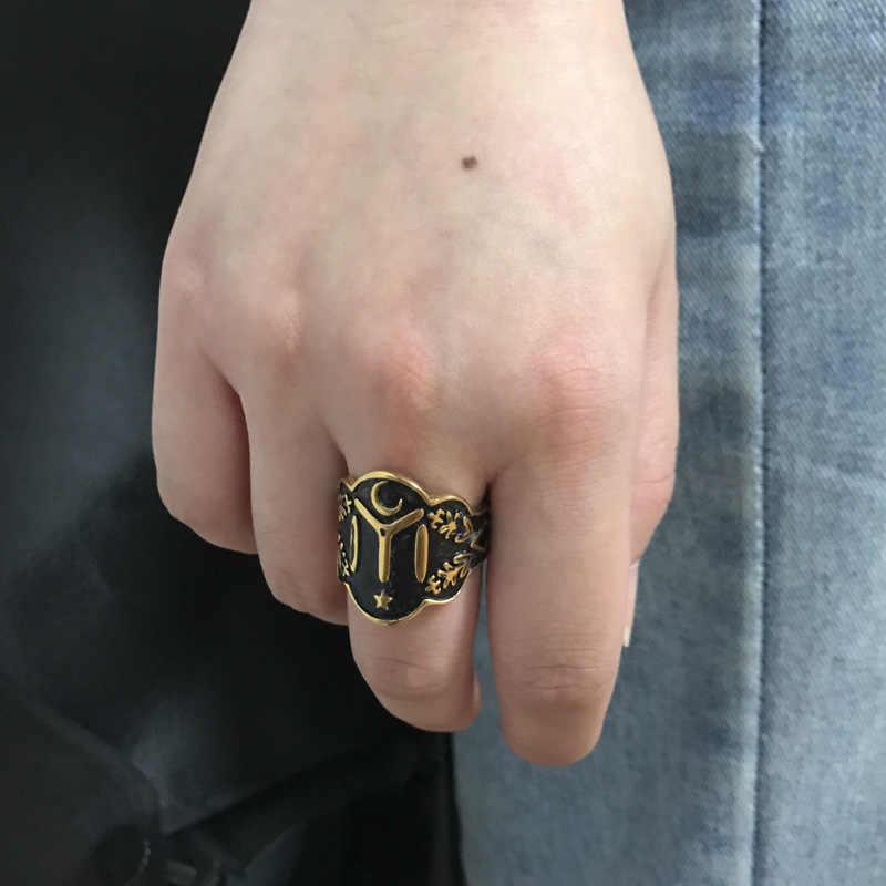 27bc8bf0210 ... Kayi Obasi Flag Ottoman Empire Rings Men Stainless Steel Men Single  Vintage Ring Fashion Ottoman Empire