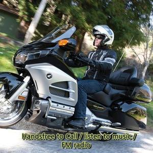 Image 5 - אופנוע קסדת רמקולי קסדת אופנוע אינטרקום Moto Bluetooth אינטרקום אופנוע האינטרפון אוזניות FM רדיו