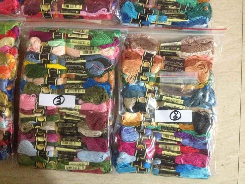 4TH JCSOYFUL Похожие DMC выбрать любой цвет комнаты CXC нить 100 шт./лот нитки крест нитки для вышивания крестиком нить ваш цвет