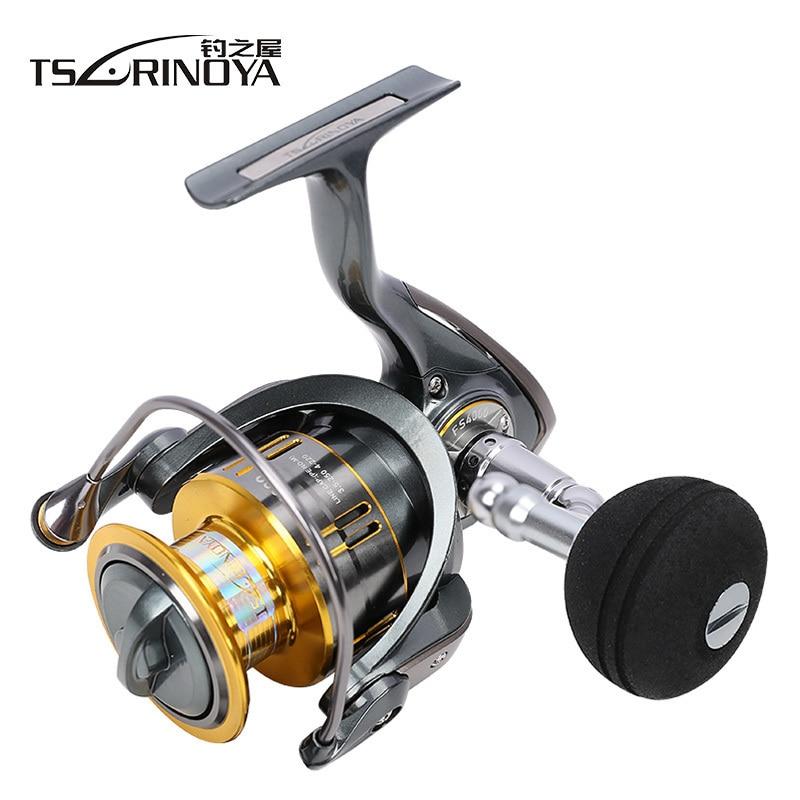 TSURINOYA Saltwater Jigging Fishing Reel FS4000-5000 10BB Speed Ratio 5.2:1 Drag Force 11kg Sea Boat Spinning Reel цена