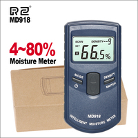 Rz digital medidor de umidade de madeira higrômetro indutivo digital testador umidade detector úmido ferramenta medição md918|Medidores de umidade| |  -