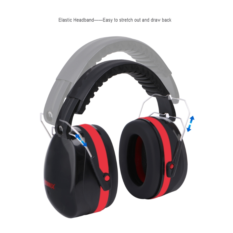 Noise Reduction Folding Headband Earmuffs Hearing Safety Muffs Sound Insulation