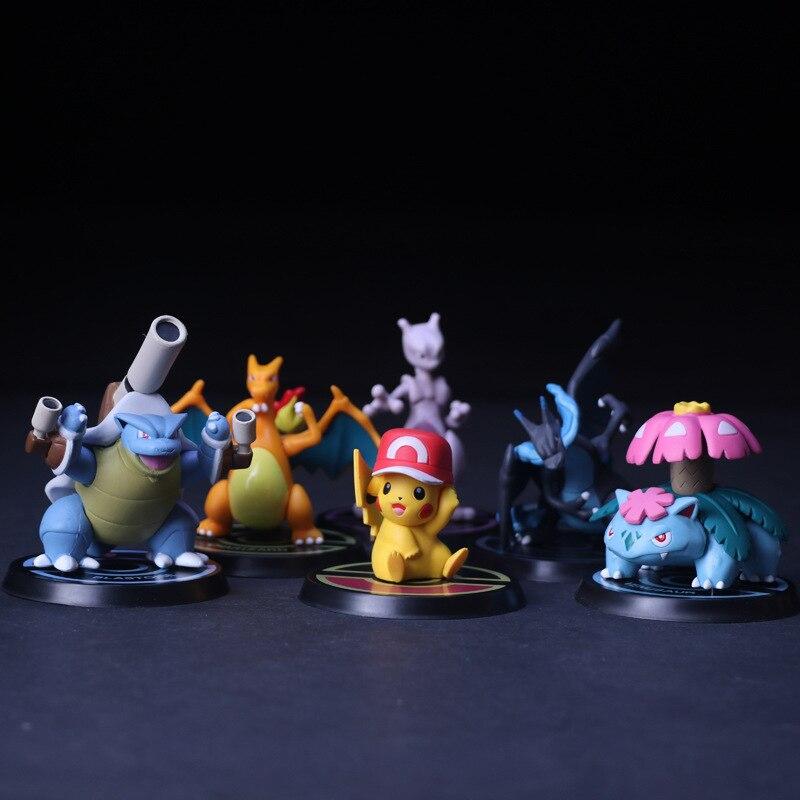Pikachu Mewtwo Charizard Venusaur Blastoise Anime Action Figure PVC Toys