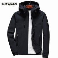 Jacket Men Zipper 2018 New Arrival Casual Solid Hooded Jacket Fashion Men S Outwear Slim Fit
