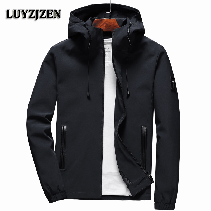 Jacket Men Zipper 2018 New Arrival Casual Solid Hooded Jacket Fashion Men's Outwear Slim Fit Spring and Autumn High Quality K11 2016 new arrival men s winter jacket casual slim fit fashion solid hooded man jacket winter warm high quality m 4xl