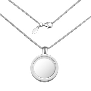 Image 5 - Medium FANDOLA floating locket Pendant Necklace 100% 925 Sterling Silver Jewelry Free Shipping