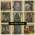Star Wars Vintage Retro Papel Kraft Mate Antiguo Poster Etiqueta de La Pared Home Decora la Parte 2